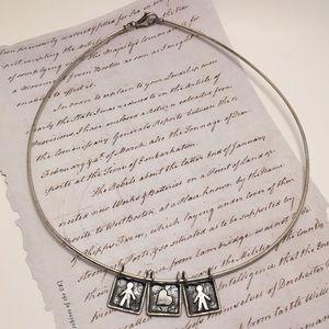 Silpada Boy & Heart Charm Necklace